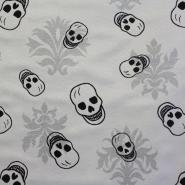 Deco, jacquard, skulls, 13958-13