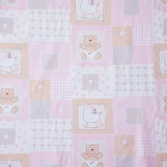 Cotton, poplin, teddy bear, 13981