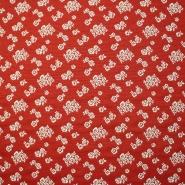 Deko žakard, cvetlični, 14138-101, rdeča