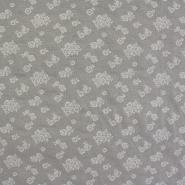Deco jacquard, beige flowers, 14138-9123