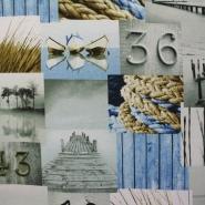 Deco, print, sea, 14010-1