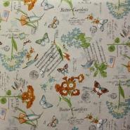 Deko, tisk, vrt, romantičen, 14015-4