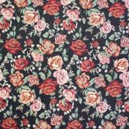 Dekostoff, schwer, Muster, kleinere Blumen, 13962-4