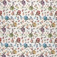 Deco jacquard, owls, 13963-1