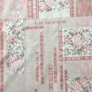 Bombaž, tisk, vrtnice, 14185-9