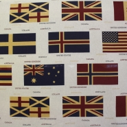 Deco, print, flags, 14238
