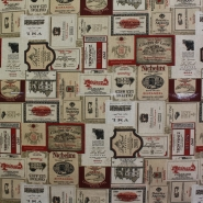 Deco, print, wine labels, 14257 - Bema Fabrics