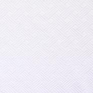 Velur, karo, 14182-3, bijela