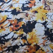 Svila, šifon, abstraktni cvetovi, 14222-1