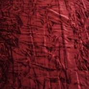 Plush, polyester,  crumpled, 3096-6, burgundy