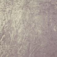 Plüsch, Polyester, zerknittert, 3096-4, graulila