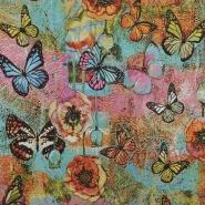 Deko žakard, metuljčki, 14799