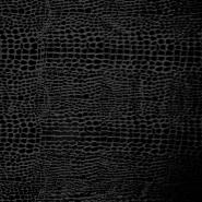 Pliš elastičen, kača, 14769-169, črna
