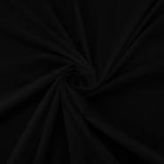Pamuk, popelin, elastin, 13596-02, crna