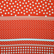 Satin, polyester, dots 14121-4