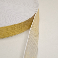 Elastic,  decorative, 25mm, gold, 00468-002 - Bema Fabrics