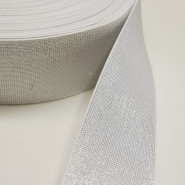 Elastikband, dekorativ, 60mm, silbern, 00470-001