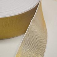 Gumielastika, ukrasna, 60mm, zlatna, 00470-002