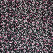 Cotton, poplin, roses, 10483