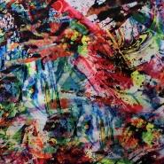 Tkanina, tanjša, abstrakten, 13294-001