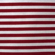 Bombaž, keper, 13869-115, rdeče črte