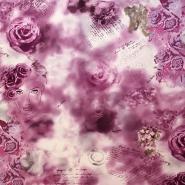 Svila, saten, cvetlični, 12845