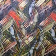 Šifon, poliester, inkjet tisk, abstrakten, 14094