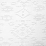 Jersey, geometrijski, 14925-2, bela