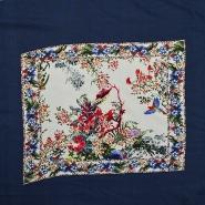 Tkanina, viskoza, cvetlični, 14951, modra