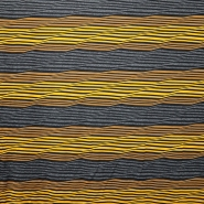 Jersey, črte, 14906, siva rumena
