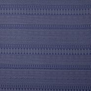 Pletivo, s strukturo, geometrijski, 14913-1, modra