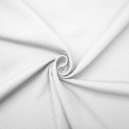 Dekor žakard pike, 11928, bela