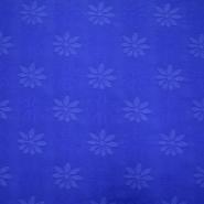 Dekostoff, Jacquard, Blumen, 11943, blau