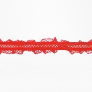 Elastika s čipkom, 5356-10, crvena