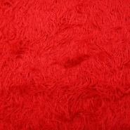Fur, artificial, long-haired, 3313-1, red