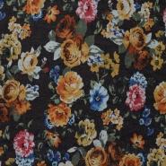 Cotton, floral, roses, 15086-055