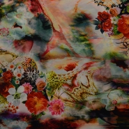 Fabric, thin, flower inkjet, 15090-001