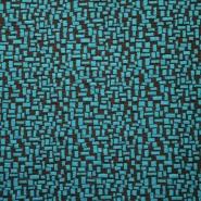 Pletivo, geometrijski, 15144-024, turkizna
