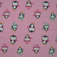 Velour, penguins, 15153-011, pink