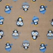 Velur, pingvini, 15153-052, bež
