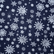 Cotton, poplin, snowflakes, 15154-008 - Bema Fabrics