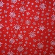 Bombaž, poplin, snežinke, 15154-015