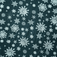 Cotton, poplin, snowflakes, 15154-028