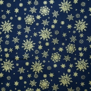 Cotton, poplin, snowflakes, 15157-008