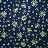 Baumwolle, Popeline, Schneeflocken, 15157-008