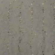 Čipka, elastična z bleščicami, 15202-2, smetana