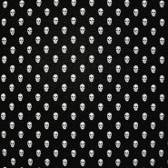 Deko žakard, lobanje, obojestranski, 13398