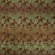 Žakard, cvetlični, 15234-0806, zelena bordo