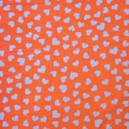 Cotton, poplin, hearts, 12465-06, orange
