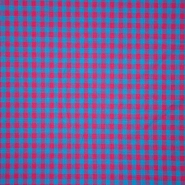 Baumwolle, Karo, 15270-012, zyklame blau